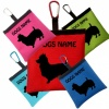 Australian Silky Terrier Personalised Pooh Bag Holder With Carabiner