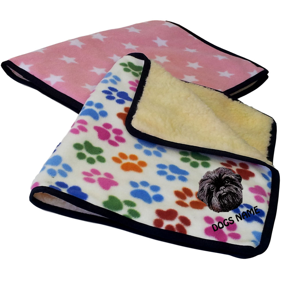 Personalised Designer Fleece Dog Blankets Dog Breed Designs