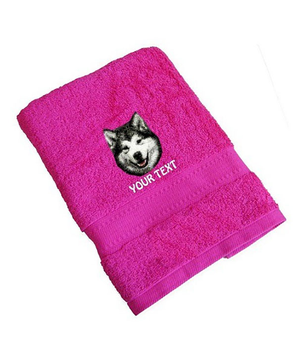 Alaskan malamute Personalised Dog Towels