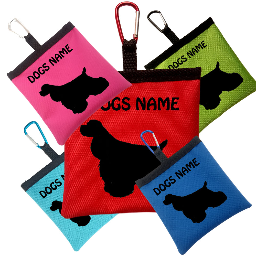 American Cocker Spaniel Personalised Dog Training Treat Bags