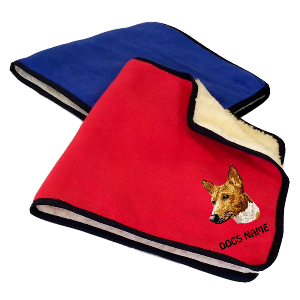 Basenji Personalised Fleece Dog Blankets
