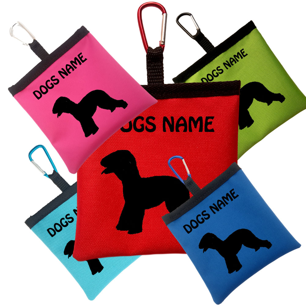 Bedlington Terrier Personalised Dog Training Treat Bags