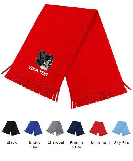 Border Collie Personalised Scarfs