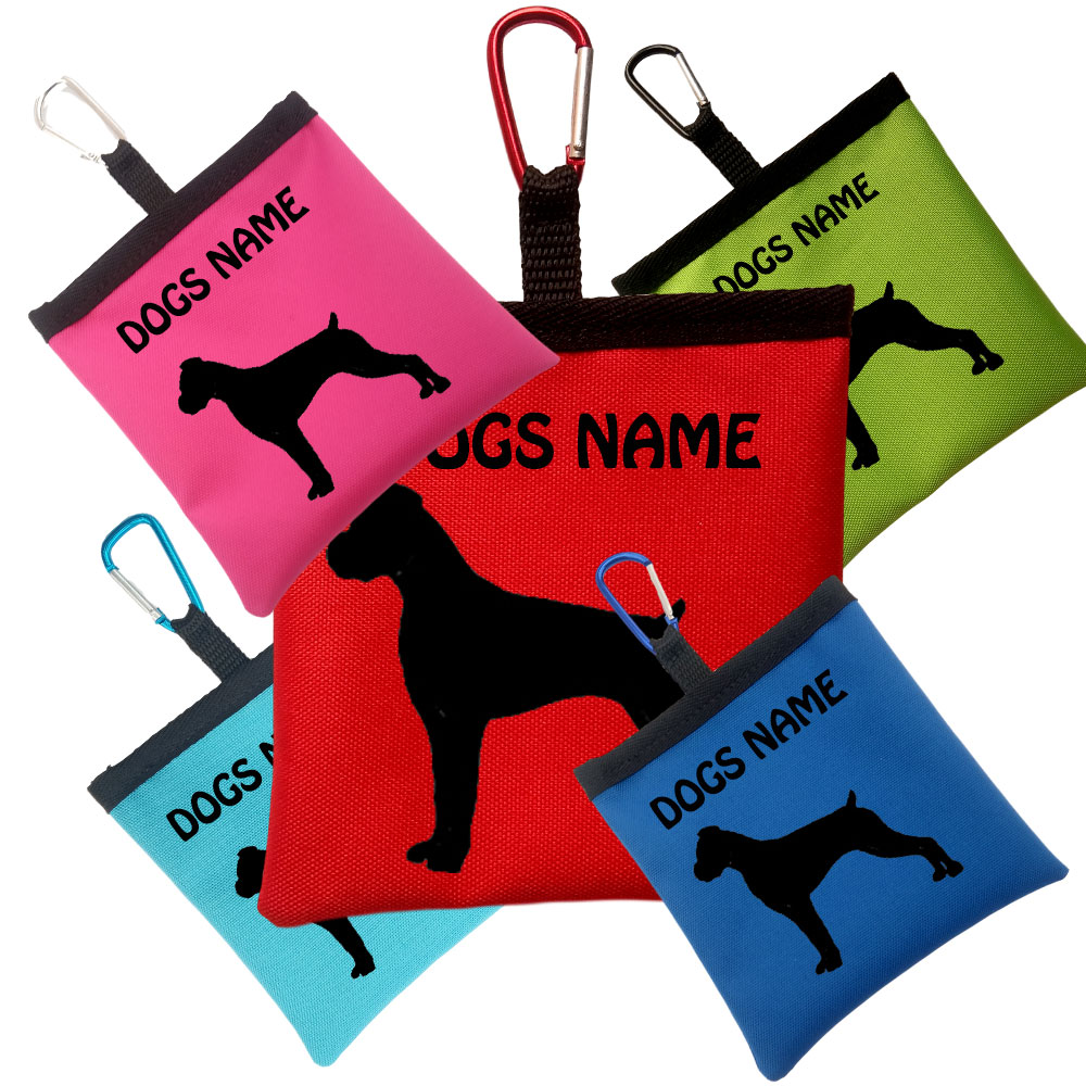 Boxer Personalised Dog Training Treat Bags