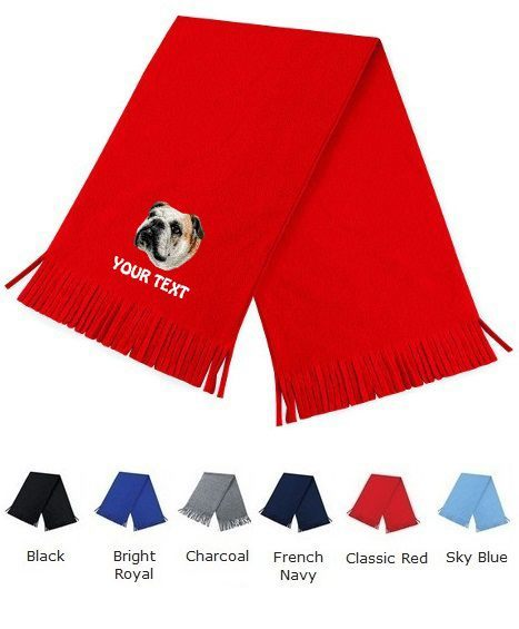 English Bulldog Personalised Scarfs