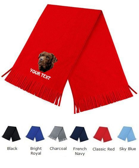 Chocolate Labrador Retriever Personalised Scarfs