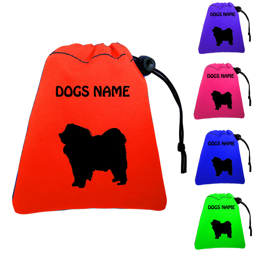 Chow Chow Personalised Dog Training Treat Bags