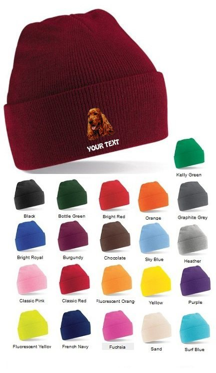 Cocker Spaniel Personalised Winter Hats