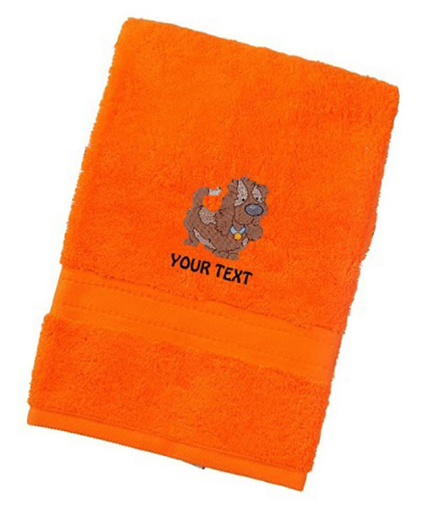 Personalised Cute Dog Design Luxury Towels