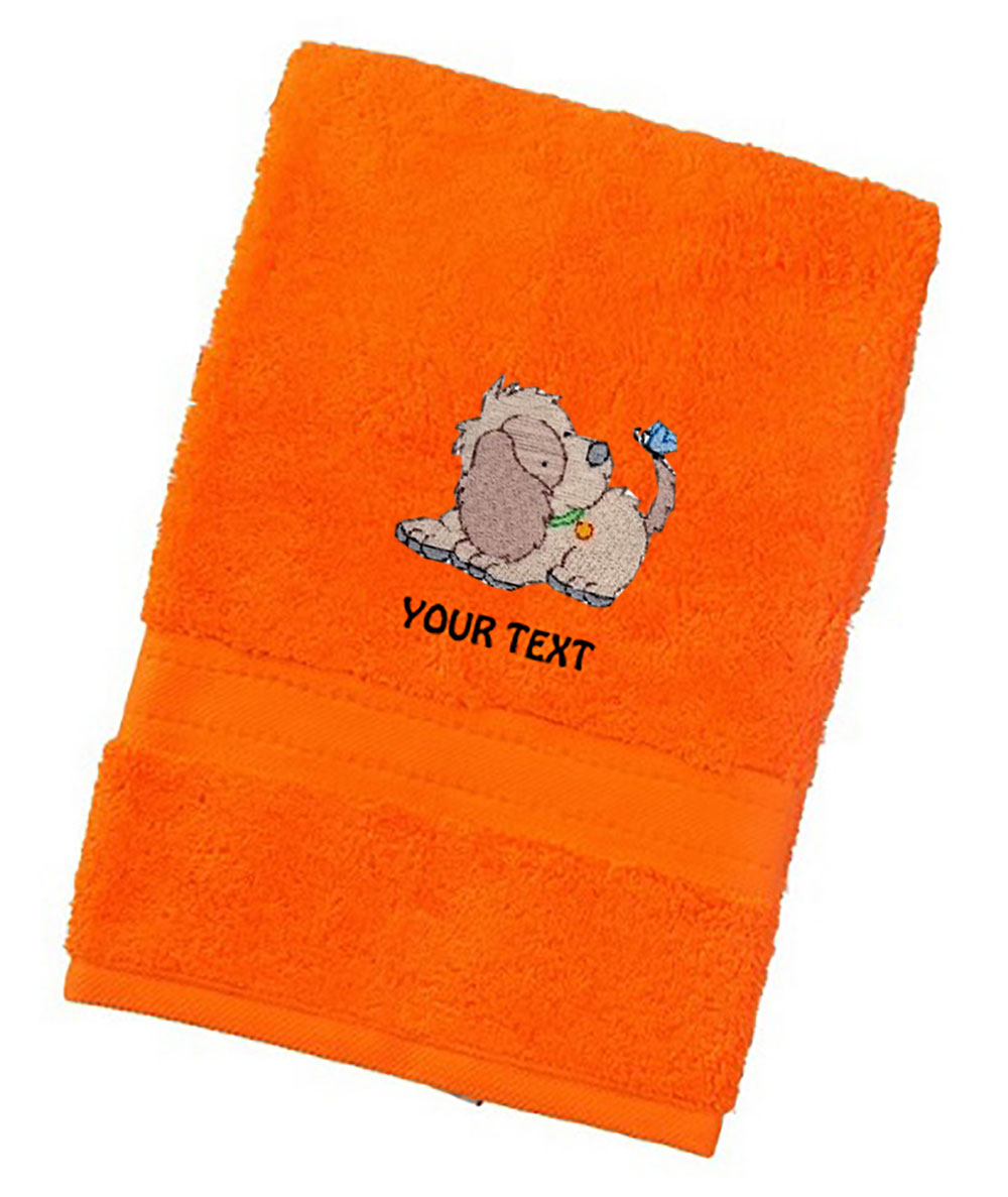 Personalised Luxury Dog Towels With Cute Dog Designs