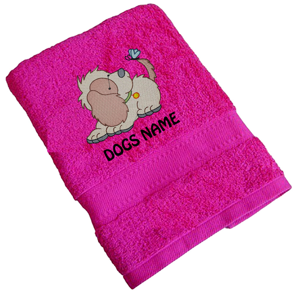 Personalised Cute Dog Design Standard Towels