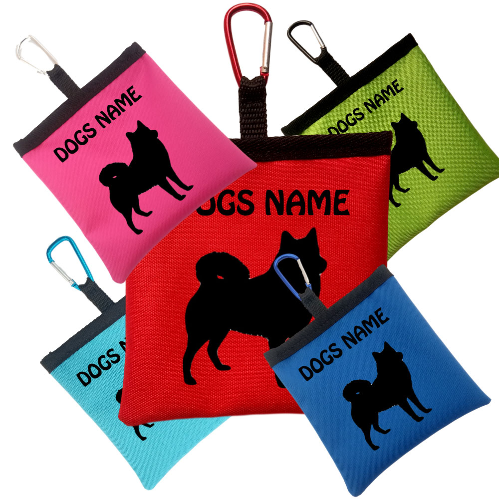 Finnish Spitz Personalised Pooh Bag Holders