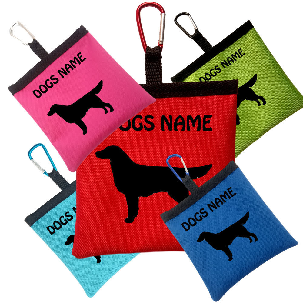 Flat Coated Retriever Personalised Dog Training Treat Bags