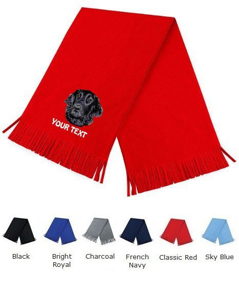 Flat Coated Retriever Personalised Scarfs