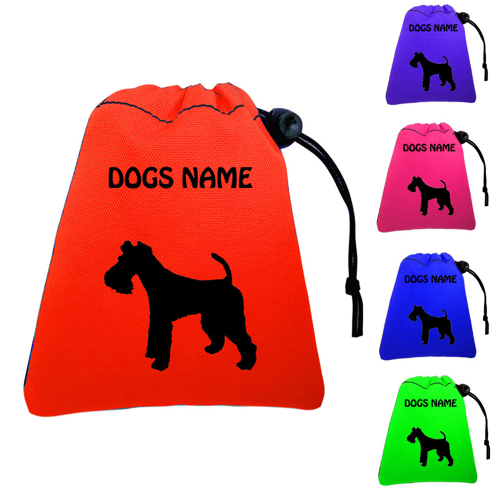 Fox Terrier Personalised Dog Training Treat Bags