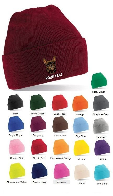 French Bulldog Personalised Winter Hats