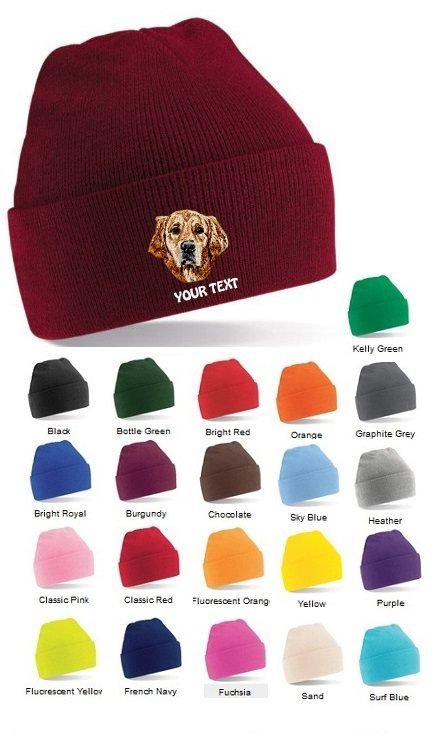 Golden Retriever Personalised Winter Hats
