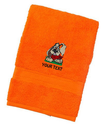 Personalised Groovydog Design Luxury Towels