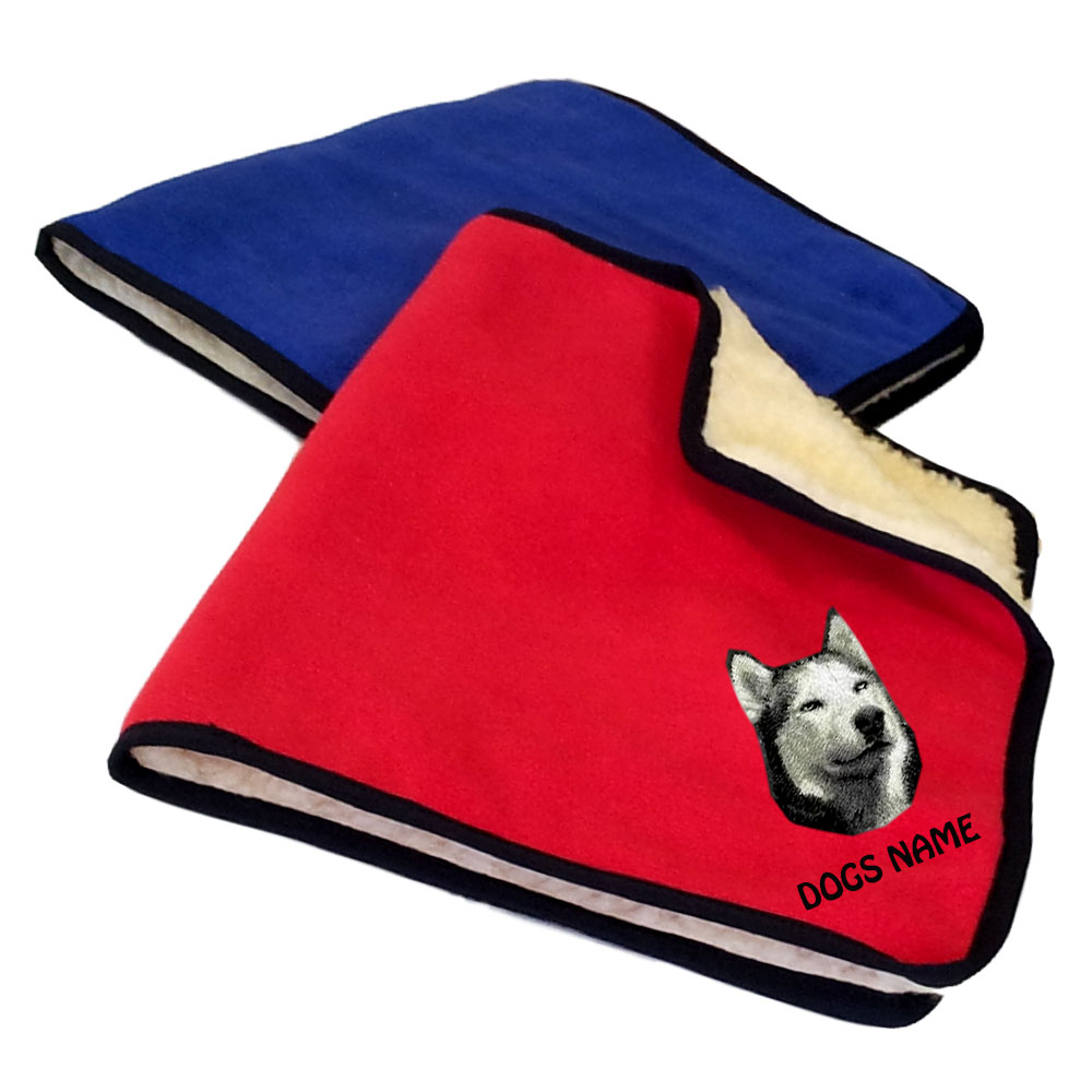 Siberian Husky Personalised Fleece Dog Blankets