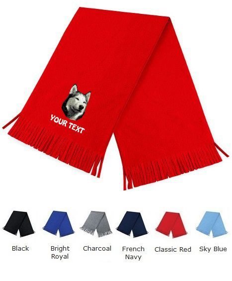 5360f2b0339 Siberian Husky Personalised Scarfs