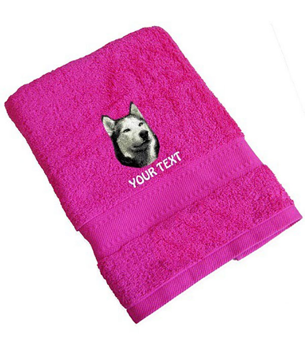 Siberian Husky Personalised Dog Towels
