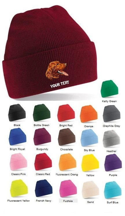 Irish Red Setter Personalised Winter Hats