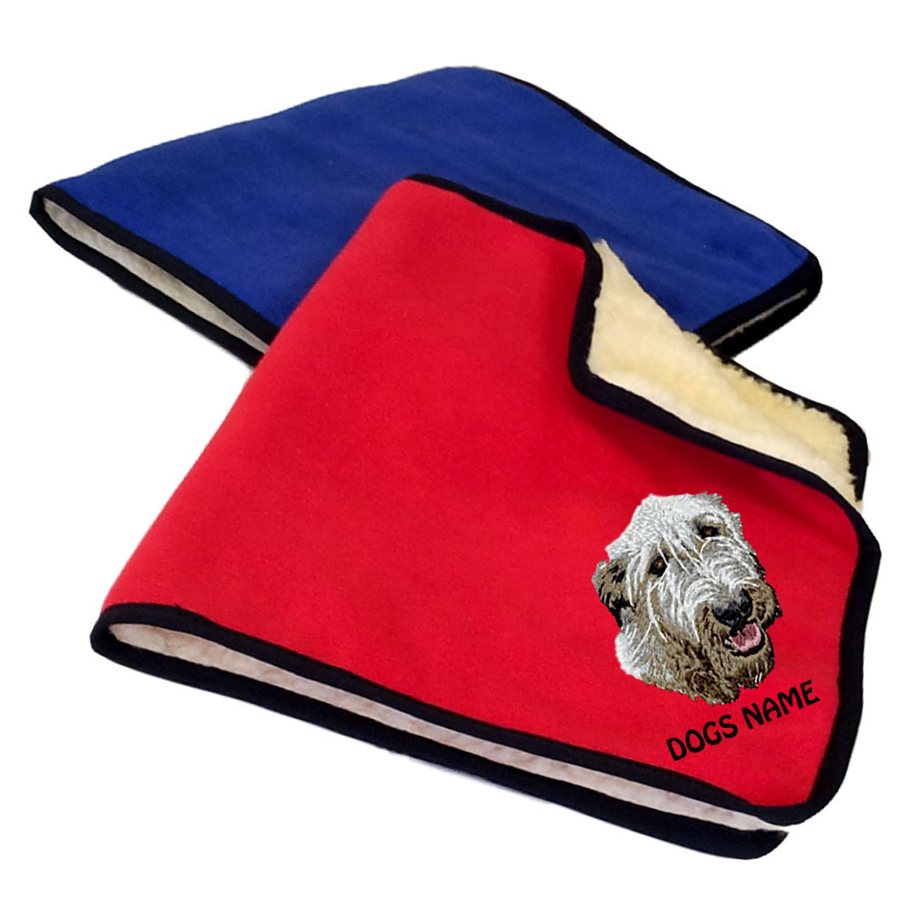 Irish Wolfhound Personalised Fleece Dog Blankets