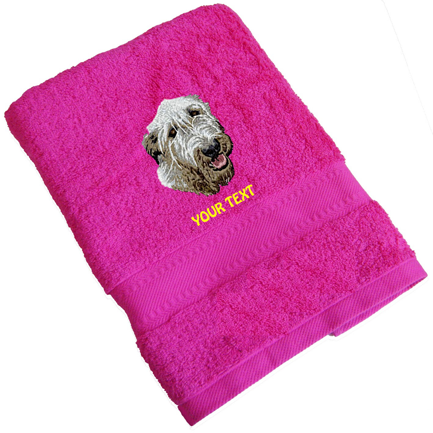 Irish Wolfhound Personalised Dog Towels