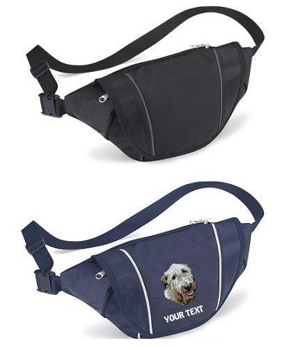 Irish Wolfhound Personalised Bum Bags