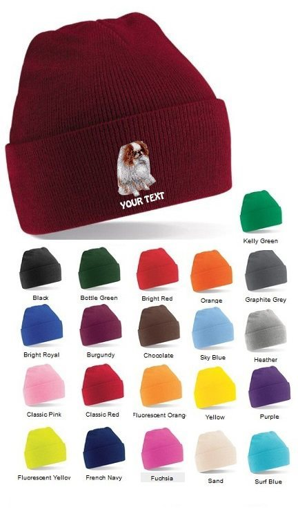 Japanese Chin Personalised Winter Hats