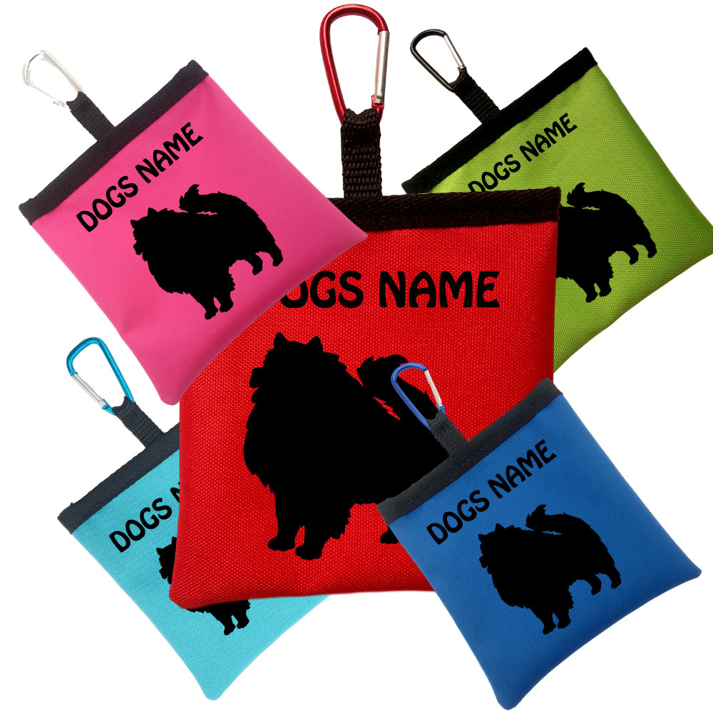 Keeshond Personalised Dog Training Treat Bags