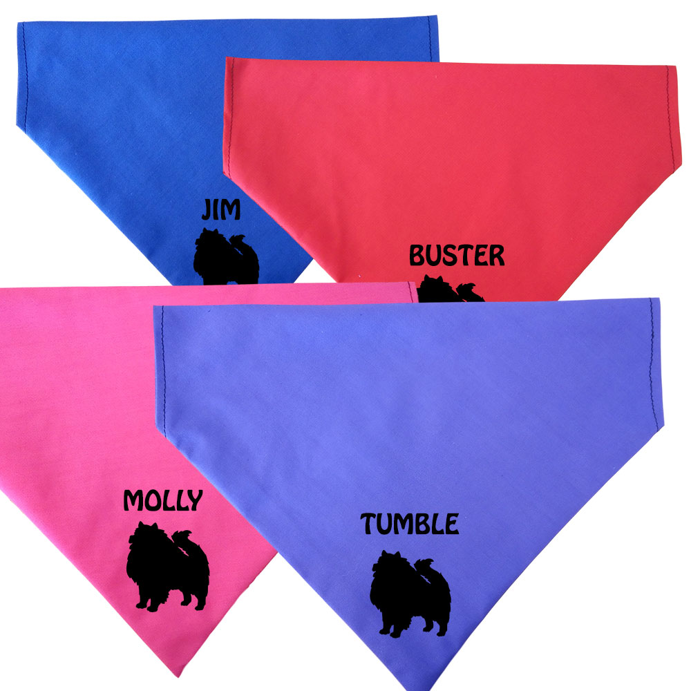 Keeshond Personalised Dog Bandanas