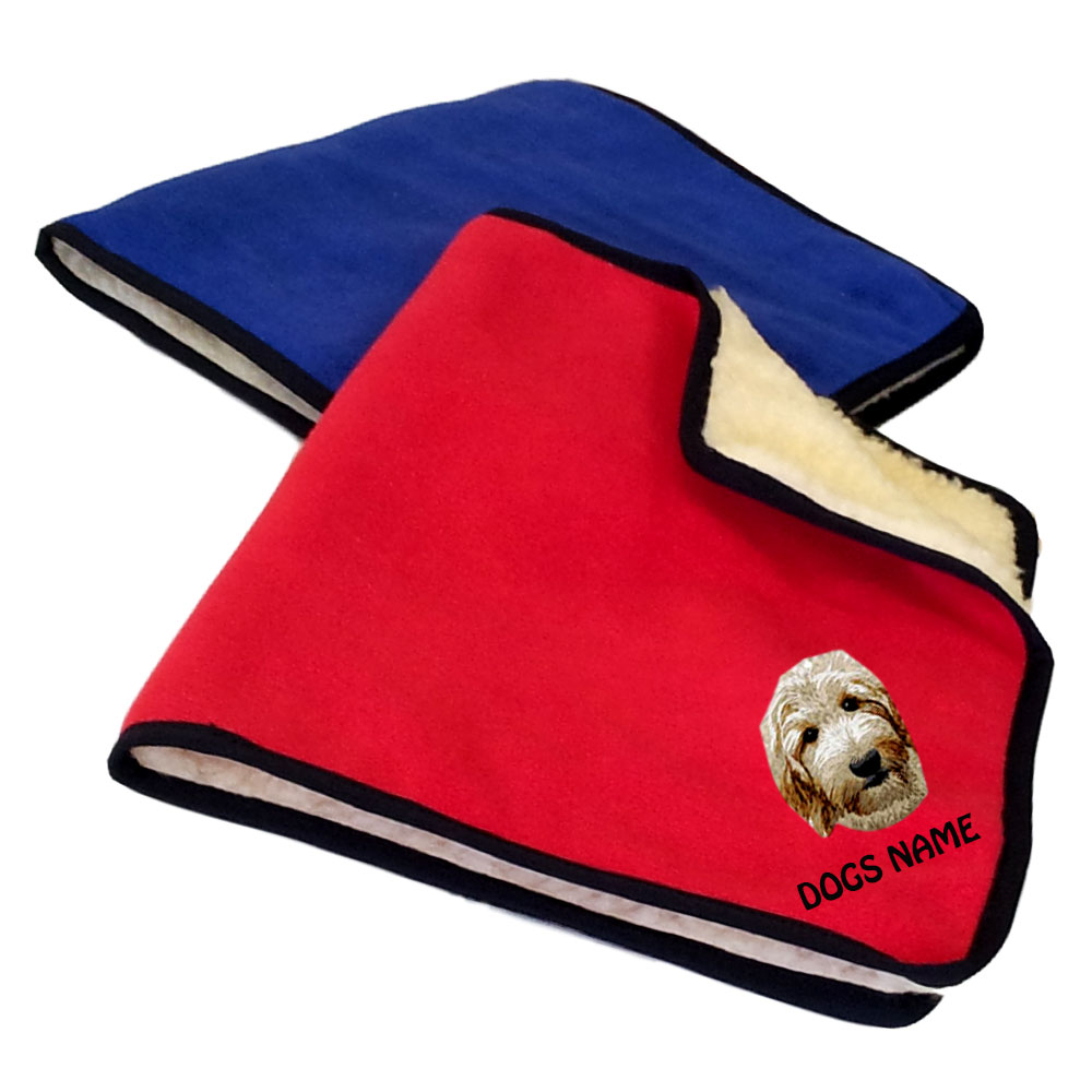 Labradoodle Personalised Fleece Dog Blankets