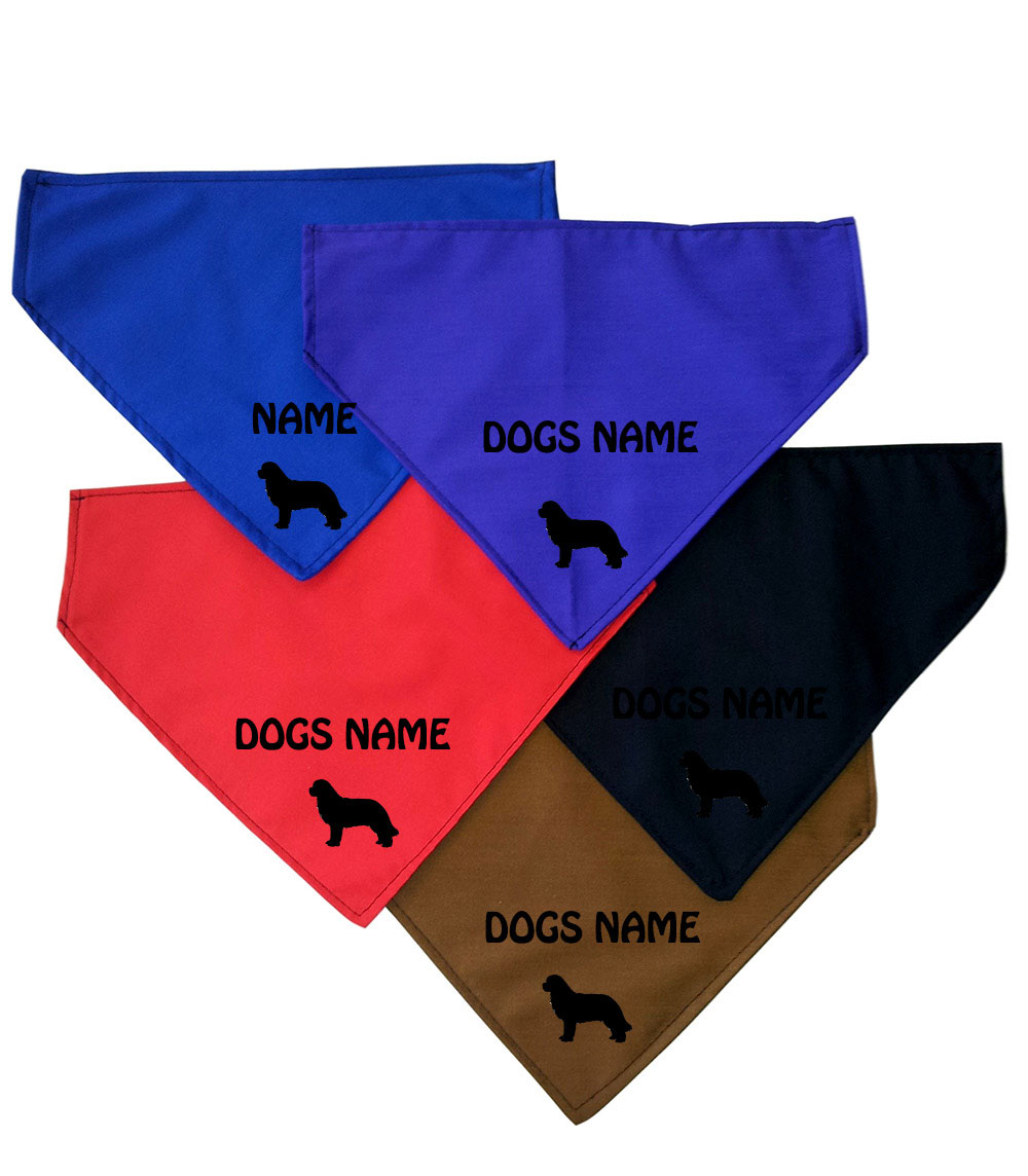 Newfoundland Personalised Dog Bandanas