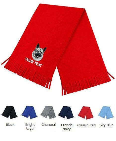 Norwegian Elkhound Personalised Scarfs