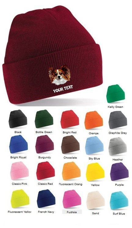 Papillon Personalised Winter Hats