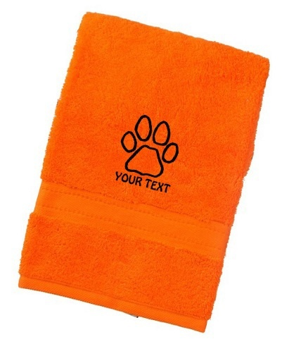 Personalised Paw Print Luxury Dog Towels