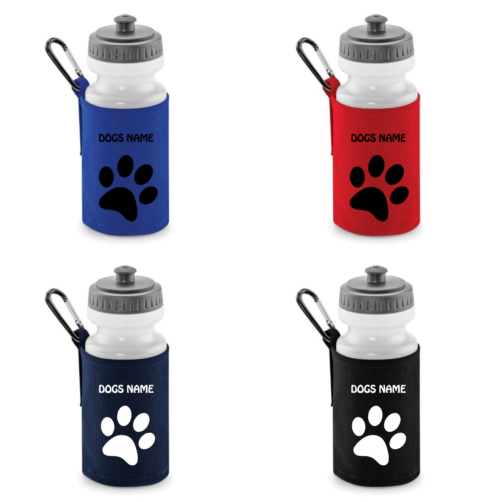 Paw Print Dog Water Bottles