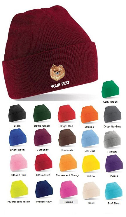 Pomeranian Personalised Winter Hats