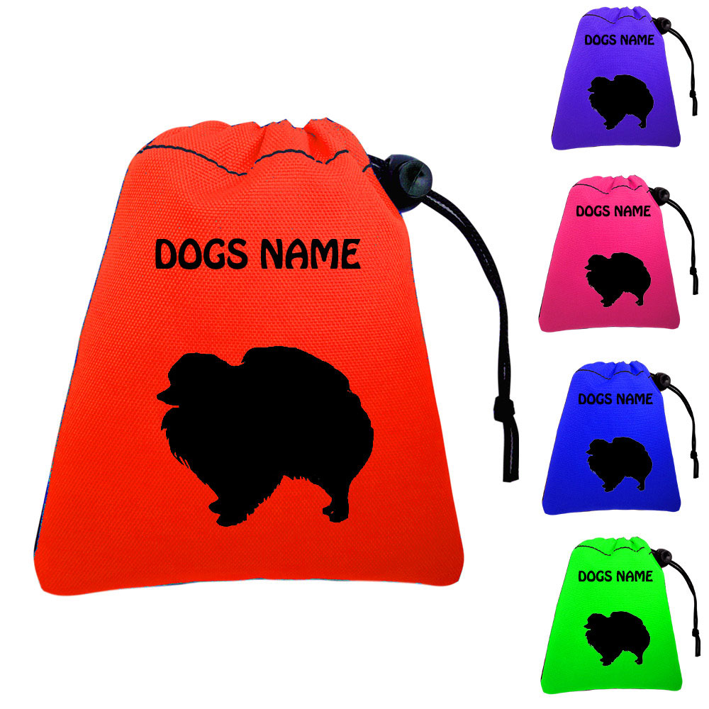 Pomeranian Personalised Dog Training Treat Bags