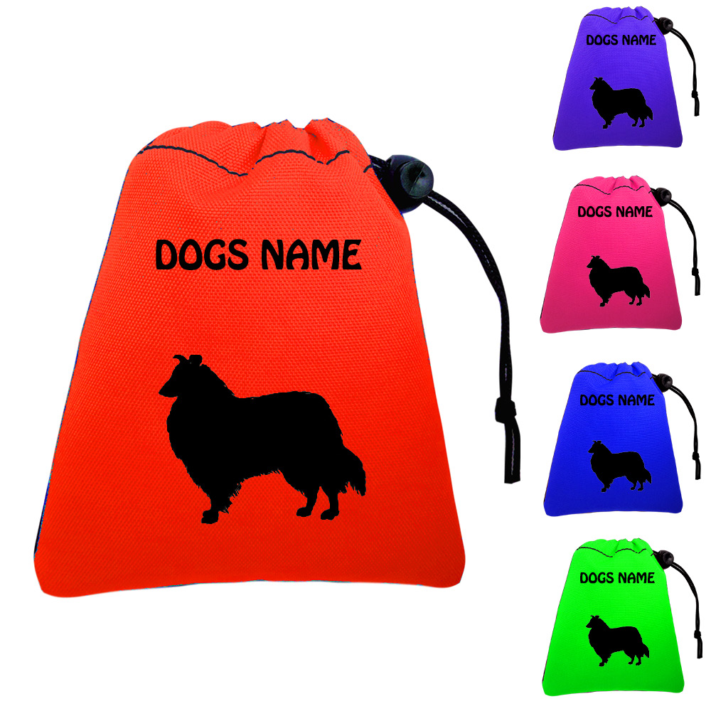 Rough Collie Personalised Dog Training Treat Bags