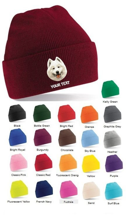 Samoyed Personalised Winter Hats