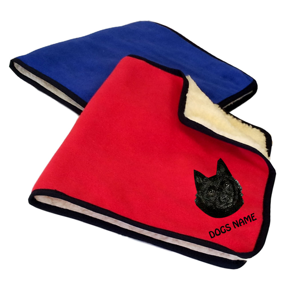 Schipperke Personalised Fleece Dog Blankets