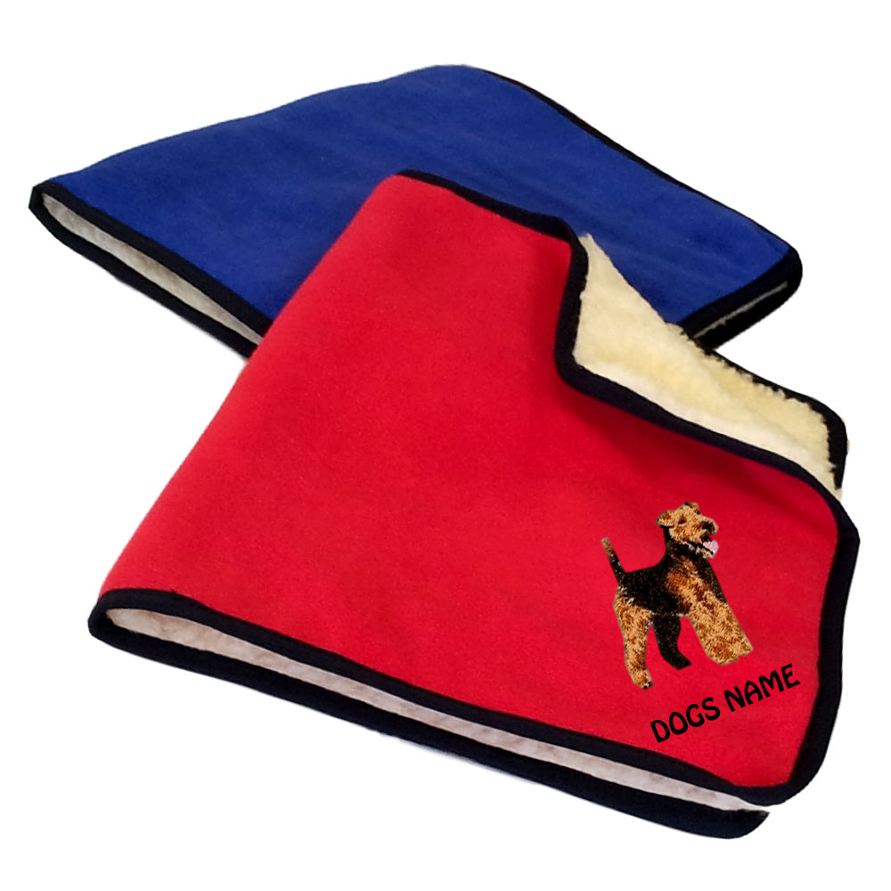 Welsh Terrier Personalised Fleece Dog Blankets
