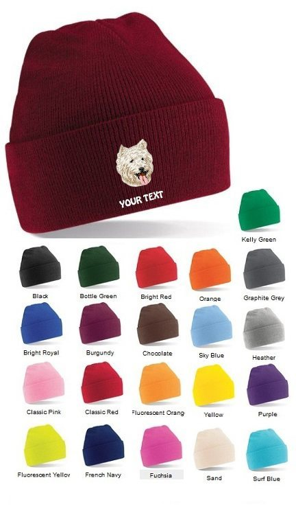 West Highland Terrier Personalised Winter Hats