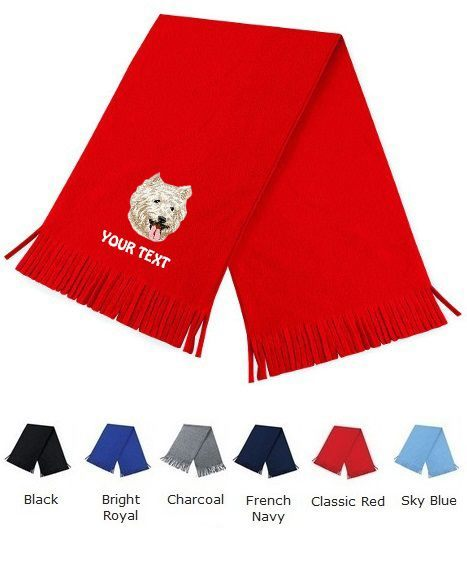 West Highland Terrier Personalised Scarfs