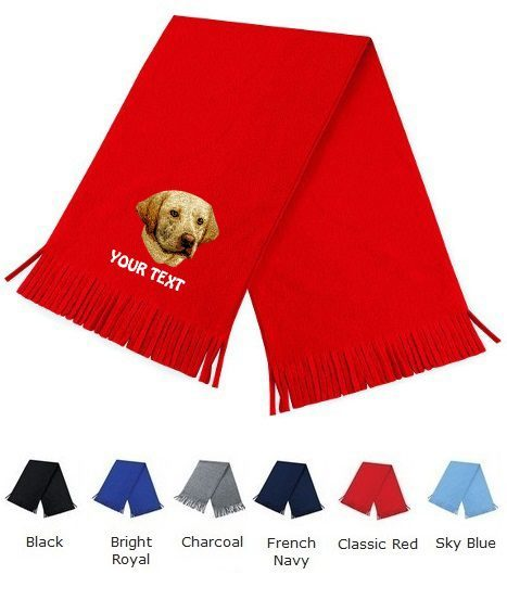 Yellow Labrador Retriever Personalised Scarfs