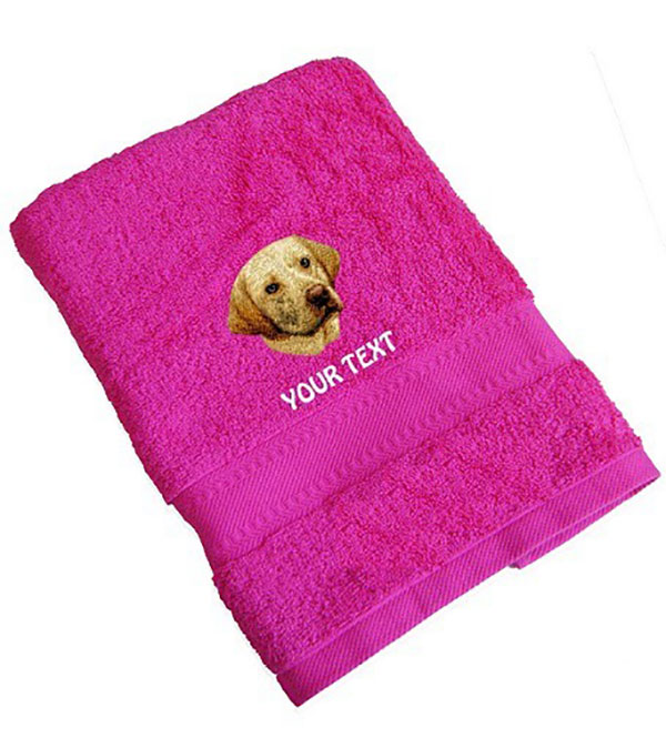 Yellow Labrador Retriever Personalised Dog Towels