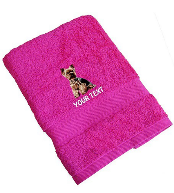 Yorkshire Terrier Personalised Dog Towels