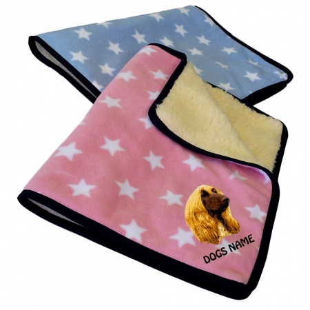 Afghan Hound  Personalised Luxury Fleece Dog Blankets Light Stars Design